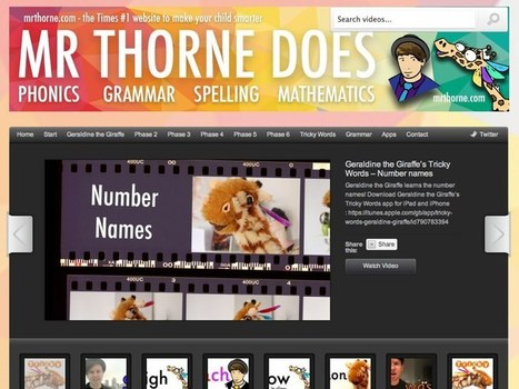Learn Phonics, Spelling, Maths and More with Mr. Thorne! - Teachingnews | kindergarten reading | Scoop.it