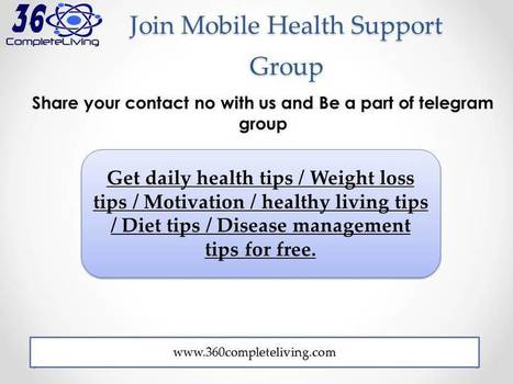 Mobile Health Support Group - 360CompleteLiving   Diet & Nutrition   Scoop.it