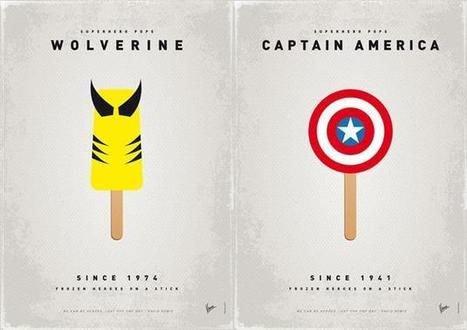 Superhero Ice Pops by Chung Kong | mapgraphic | Scoop.it
