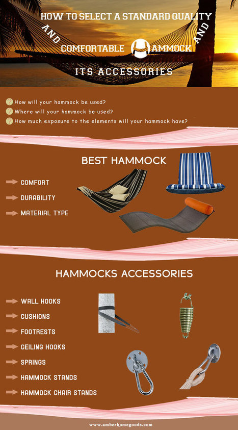 How to select a standard quality and comfortable hammock and its accessories | amberhomegoods | Scoop.it