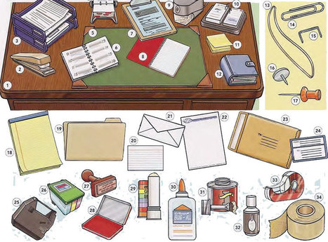 Office supplies and stationary vocabulary PDF - Learning English vocabulary and grammar | Learning Basic English, to Advanced Over 700 On-Line Lessons and Exercises Free | Scoop.it