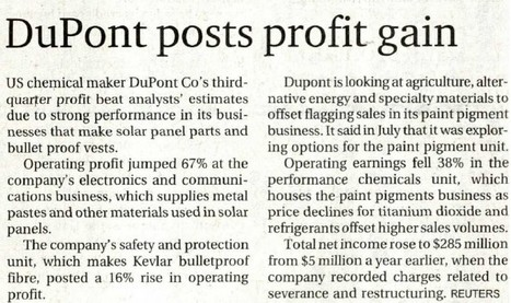 DuPont 3Q Performance Annoucement | DuPont ASEAN | Scoop.it