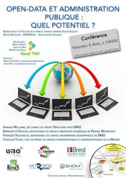 Conférence / Open data et Administration : Quel potentiel ? - @ Brest   Logiciels libres,Open Data,open-source,creative common,données publiques,domaine public,biens communs,mégadonnées   Scoop.it
