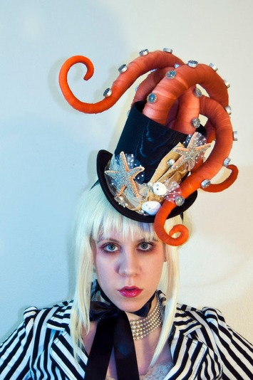 Octopus Tentacle Hat - Steampunk Victorian Masquerade Top Hat | Kitsch | Scoop.it