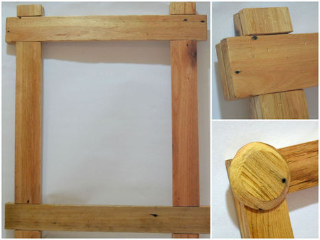 Pallet painting frame | King of Maids | Scoop.it