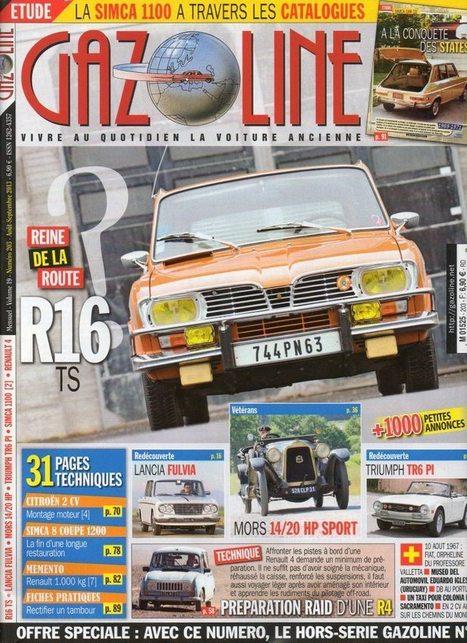 La Renault 16 TS fait la Une de Gazoline | Renault 16 | Scoop.it