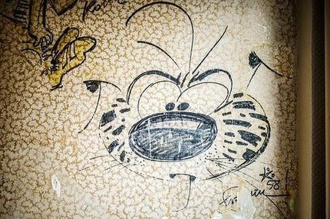 En Belgique, des dessins de Peyo et Franquin découverts sous du papier peint | Ca m'interpelle... | Scoop.it