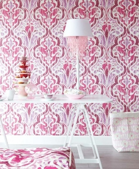 Create beautiful living room with floral and baroque wallpaper ideas | Designinggal | interior design inspirations | Scoop.it