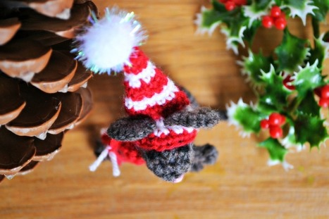 Crochet Christmas Mouse | The Green Dragonfly | tejidos | Scoop.it