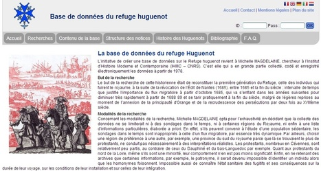 #ChallengeAZ : H comme Huguenots | La Base de données du refuge Huguenot | Nos Racines | Scoop.it