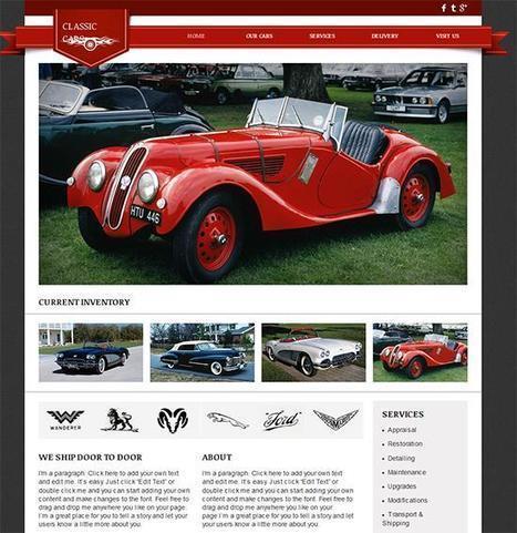 18 Free Automotive Website Templates | Template & Webdesign | Scoop.it