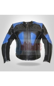 Black & blue buttoned collar jacket | Have a gorgeious look Leather Jackets | Scoop.it