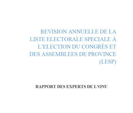 Le rapport de la délégation de l'ONU sur les listes électorales est publié. (Nouvelle Calédonie) | Veille des élections en Outre-mer | Scoop.it