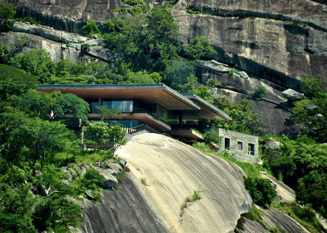 Sforza Seilern's house stands on rocky slab above African dam | Inspired By Design | Scoop.it