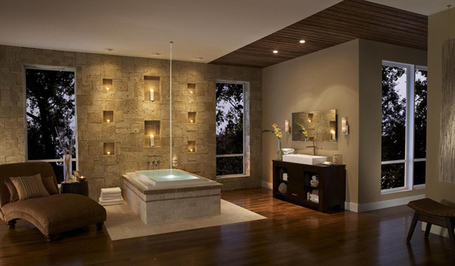 15 Examples of Opulence And Elegance: Bathrooms With Fireplace | DesignRulz | What Surrounds You | Scoop.it