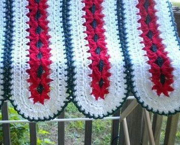 Crochet Striped Red Daisy Baby Afghan Crochet Red Striped Blanket Crochet Red Daisy | To Crochet or To Knit that is the question | Scoop.it