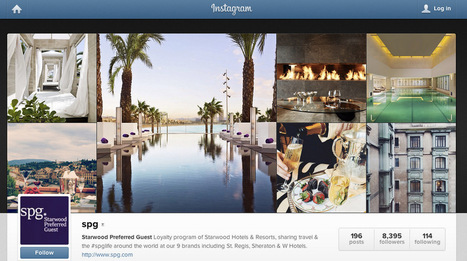 Starwood Is the First Travel Brand to Advertise on Instagram | e-Tourism | Scoop.it