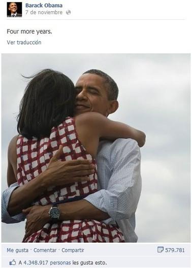 Por 9 razones esta foto es la más compartida en las redes sociales de la historia   Los medios sociales en las elecciones de EE.UU. 2012   Scoop.it
