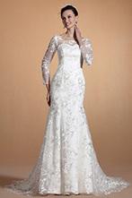 [EUR 229,99] Carlyna 2014 Nouveauté Manches Overlace Sirène Robe de Mariée (C37143607) | robe de mariée, robe de soirée | Scoop.it