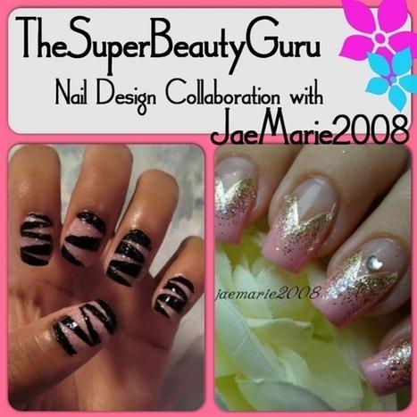 Pink Glitter Tape Manicure - Super Beauty Guru | The Super Beauty Guru | Scoop.it