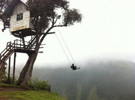 A Swing That Sits At The 'END' Of The World | Le BONHEUR comme indice d'épanouissement social et économique. | Scoop.it