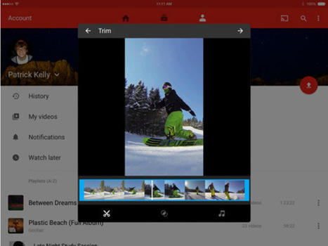 Des outils d'édition dans la nouvelle application YouTube pour iOS - CNET France | Les outils du journalisme | Scoop.it