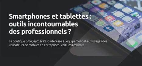 Smartphones et tablettes : outils incontournables des professionnels ? | Digital marketing in physical world | Scoop.it