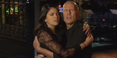 Bruce Willis Stars In 'SNL' Promos, Alongside Cecily Strong And His Steely-Eyed Gaze | MOVIES VIDEOS & PICS | Scoop.it
