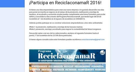¡Participa en ReciclaconamaR 2016!   Comarca Miajadas-Trujillo   Scoop.it
