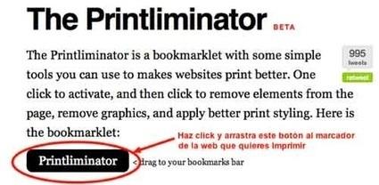 The Printliminator, un bookmarklet muy útil para eliminar secciones de una web | Tic, Tac... y un poquito más | Scoop.it