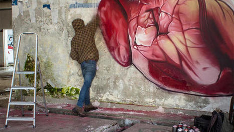 This Clever GIF Turns Street Art Into a Beating Heart | Transmedia Think & Do Tank (since 2010) | Scoop.it
