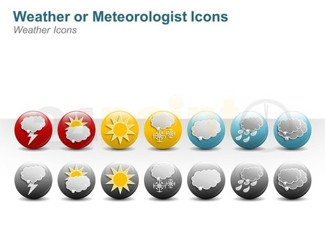 Weather Symbols - Editable Illustration Icon in PPT | Geography - Secondary Education | Scoop.it