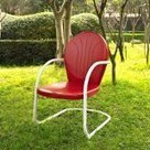 Save Buy Crosley Furniture Griffith Metal Chair, Red Review   Best Outdoor Products Review   GARDEN ARBOUR   Scoop.it