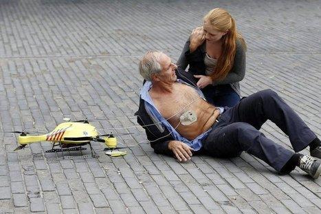 Un drone ambulance avec défibrillateur intégré dévoilé aux Pays-Bas   Drone et prises de vues aériennes   Scoop.it