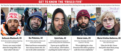 'Frisco Five' on hunger strike to protest SF police brutality - The San Francisco Examiner | Police Problems and Policy | Scoop.it