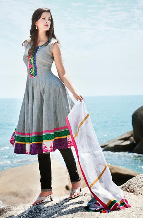 Ash Grey Cotton Churidar Kameez Set [BSD24035] - Rs.4706 : Salwar Kameez,Designer Salwar Kameez, Designer Sarees, Designer Sarees, Wedding Lehengas, Indian Sarees Online store   Salwar Kameez   Scoop.it