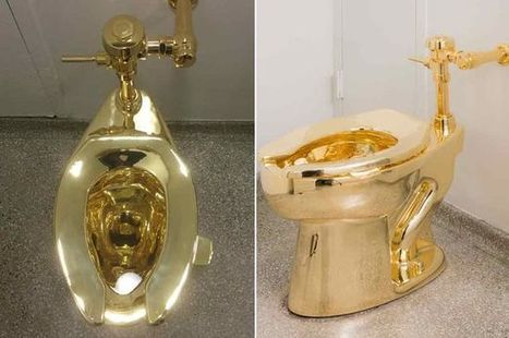'World's most expensive toilet' opens for use and it's 18-karat solid gold | Strange days indeed... | Scoop.it