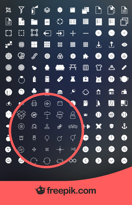 1400 free 'flat design' icons to download today | Design | Creative Bloq | SocialMente ProActivos (y confusos) | Scoop.it