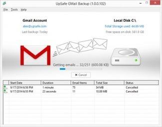 Free Gmail Backup | Upsafe | Actus vues par TousPourUn | Scoop.it