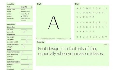 Modulator, una aplicación para crear nuestra propia tipografía | MECIX | Scoop.it