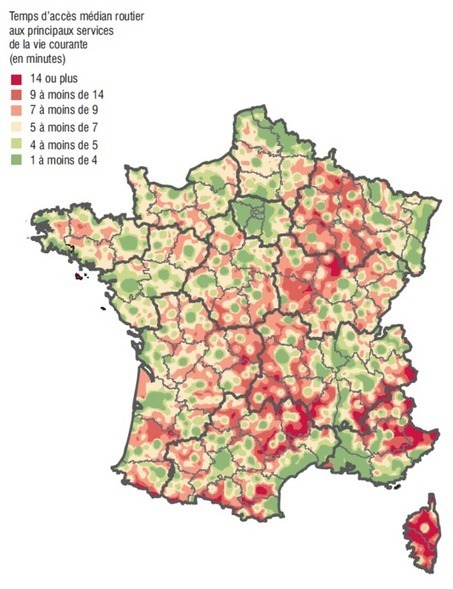 En France, combien de temps faut-il pour avoir accès aux services du quotidien ? | Les temps de la ville | Scoop.it