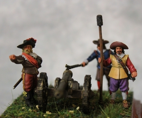 Gunners with a gun 17th century <br/>&quot;guardhouse&quot; (Moscow) 1:60 | Military Miniatures H.Q. | Scoop.it