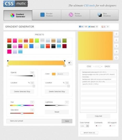 CSS Matic – Generador de código CSS online - Photoshop3d.org | Recursos para diseñadores gráficos | Scoop.it