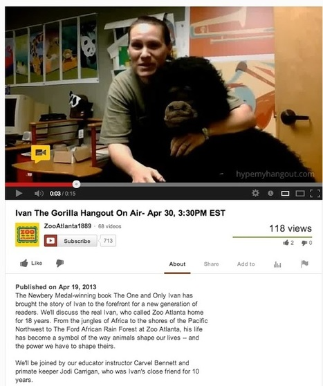 """Librarians on the Fly: Broadcast your Google Hangout on YouTube   Buffy Hamilton's Unquiet Commonplace """"Book""""   Scoop.it"""
