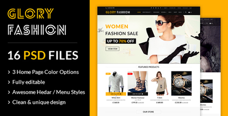 Glory Fashion eCommerce PSD Template - Glorywebs | Wed Design | Scoop.it