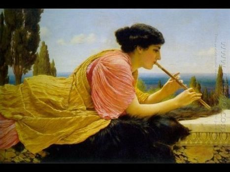 Oil painting reproduction: John William Godward A Melody - Artisoo.com | arts&oil | Scoop.it
