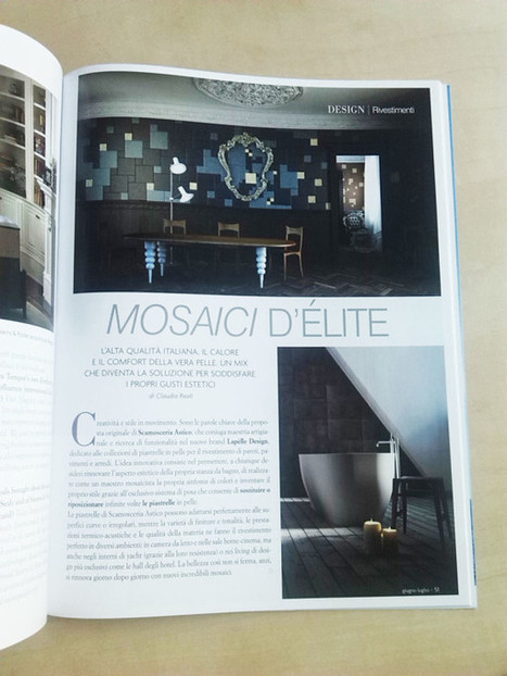 Mosaici d'èlite, Inbenessere talks about Lapèlle leather tiles   Leather Wall Tiles and Leather Floor Tiles   Leather tiles Lapèlle design   Scoop.it