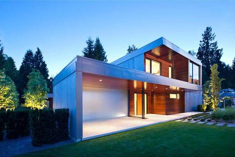 Jolie maison contemporaine en h l 39 oues for Maison yourte moderne
