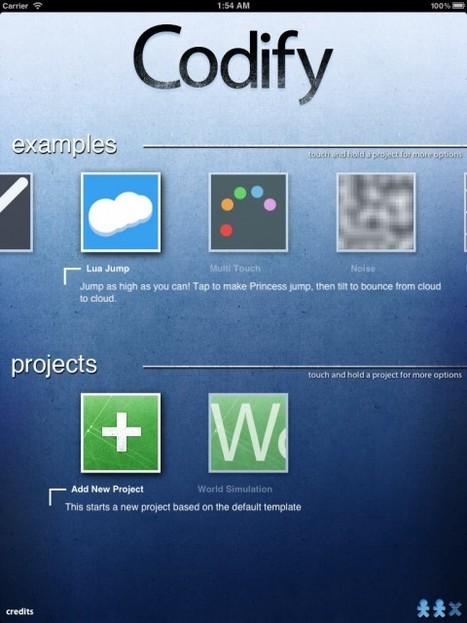 Codify: Elegant, Creative Coding Directly on the iPad – No (Other) Computer Needed   Henkbaams   Scoop.it