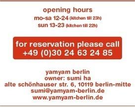 yamyam berlin - Alte Schönhauser Str. 6 - 10119 Berlin - +49(0)30 24632485 | Berlin Inside Out | Scoop.it